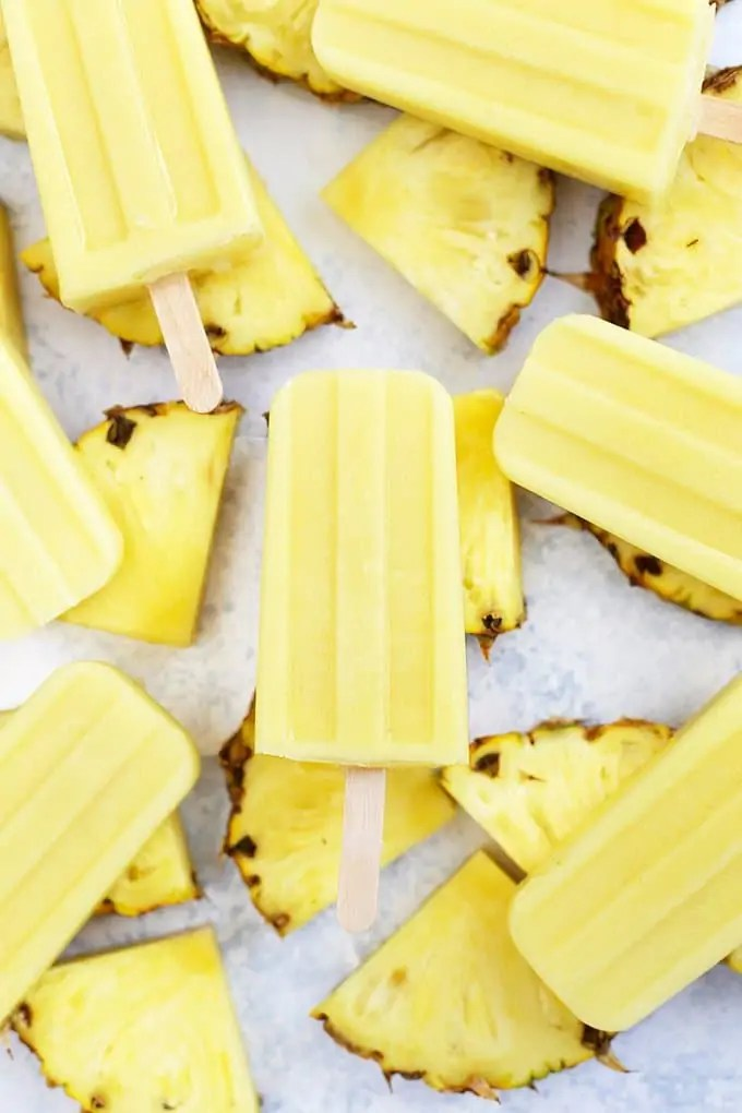 Homemade Dole Whip Popsicles