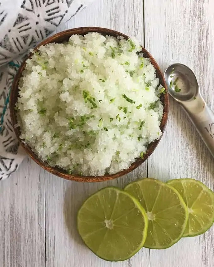 Lime & Sea Salt Scrub Recipe
