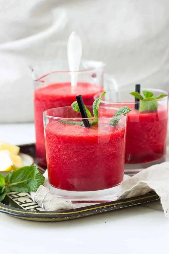 raspberry slushie