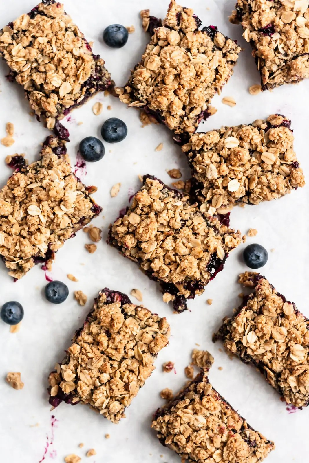 Blueberry Pie Bars with Oatmeal Crumble