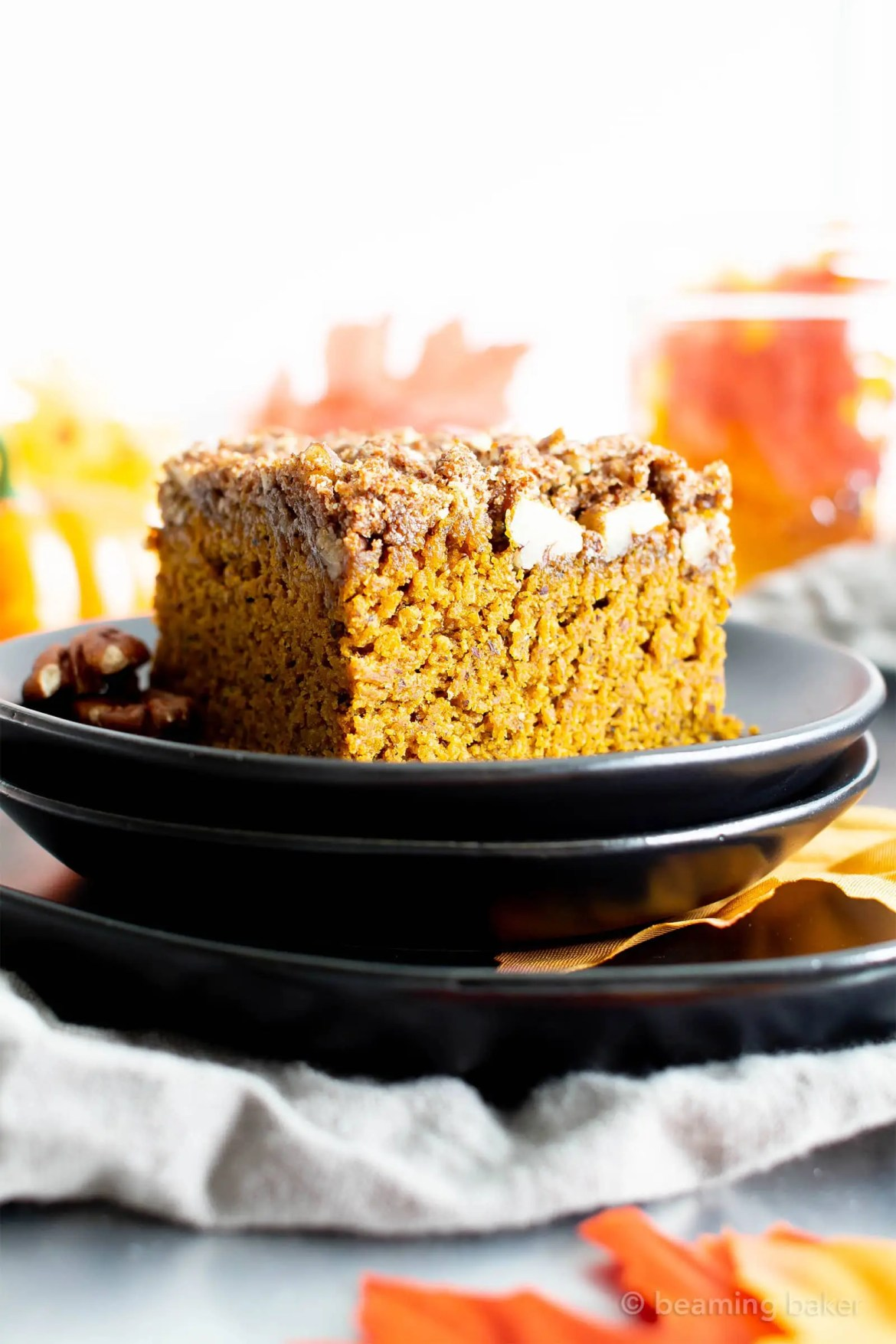 Easy Gluten Free Vegan Pumpkin Coffee Cake Recipe