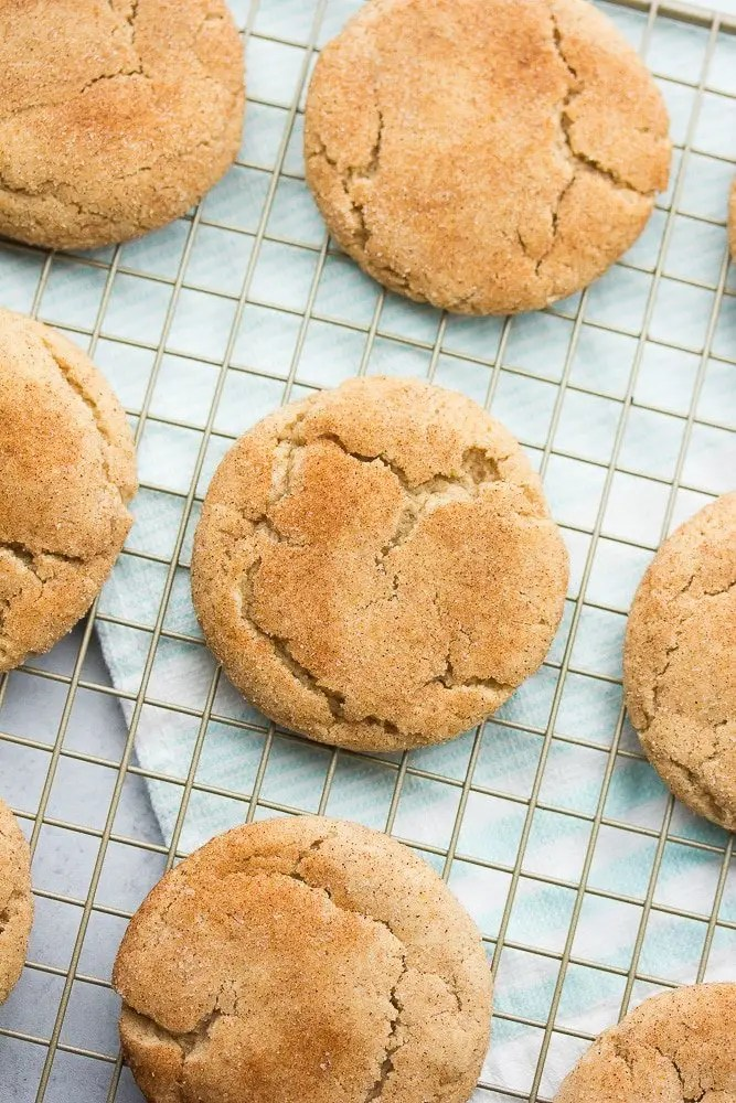 Vegan Snickerdoodles - Soft, Thick & Puffy