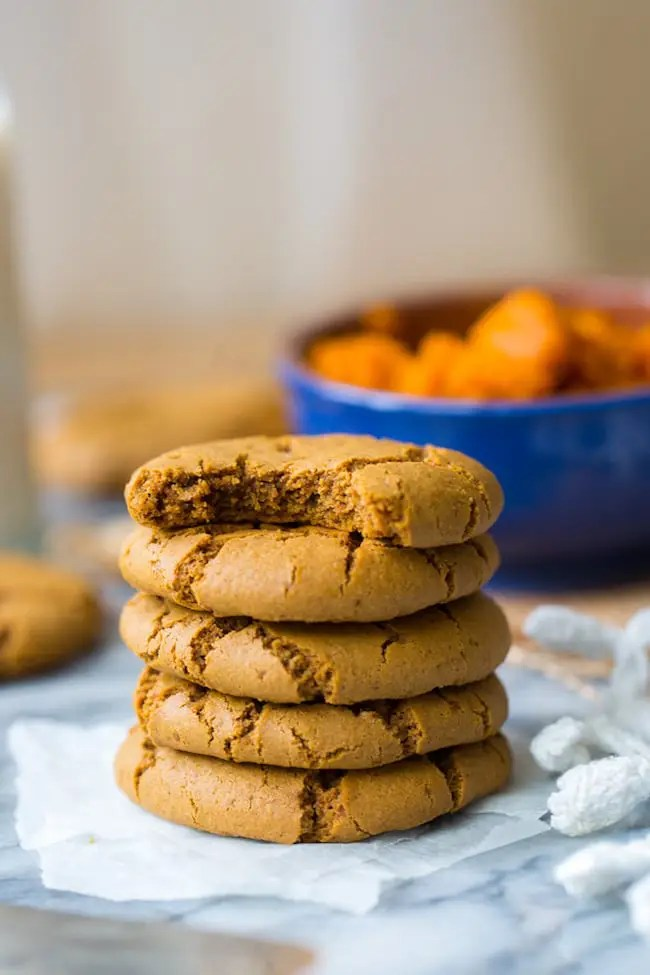 Paleo Pumpkin Cookies with Molasses
