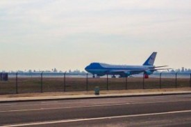 Air Force One lands in Fresno Photo by Len Wilcox