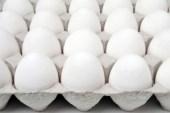 White eggs in a box