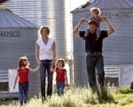 stock photo farming family