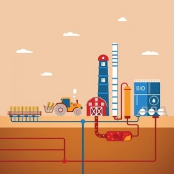 concept of biofuels refinery plant