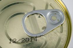 Aluminum tin can. Close Up