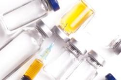 Vials and syringe