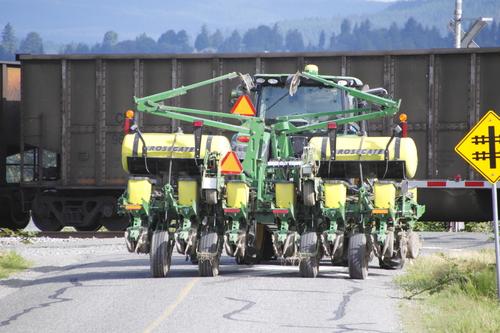 Farm Equipment on Rural Roads