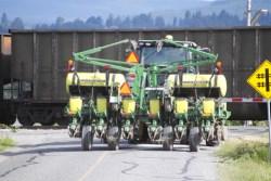 Farm Equipment on Rural Road