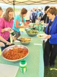 Local produce was served for lunch at Calaveras High School.