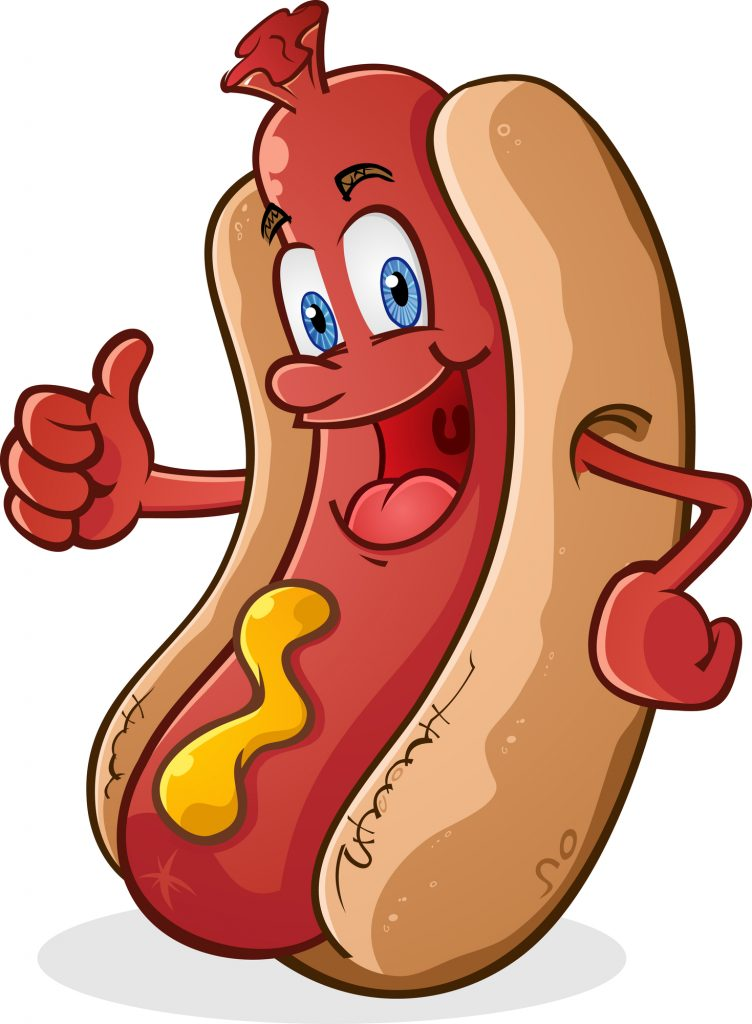 Hot Dog Character Giving Thumbs Up