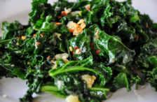 Saute of Garlic & Kale with Red Onion