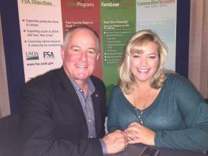 Pollinator Partnership President Val Dolcini with AgNet Media Farm News Director Sabrina Hill