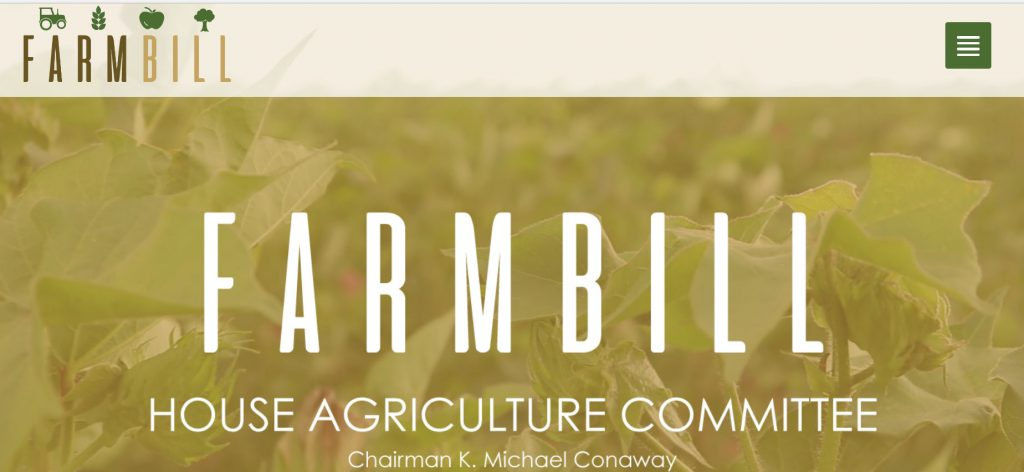 Groups on House Agriculture Committee Approving 2018 Farm Bill