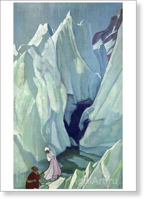 Roerich Nicholas. She Who Leads. Art print on canvas - paintings, sale of paintings