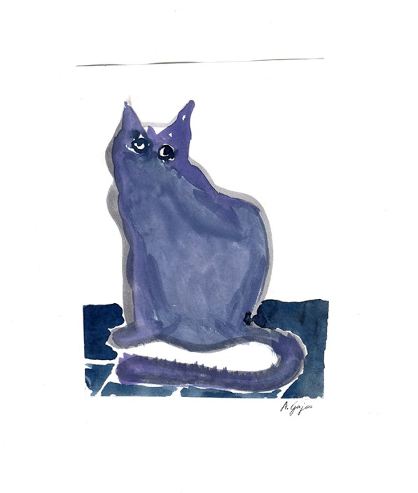 cat-watercolor-blue