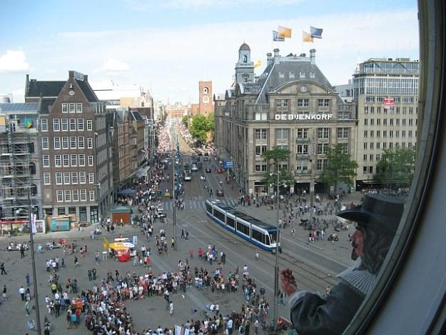 Amsterdam widok z Muzeum figur woskowych