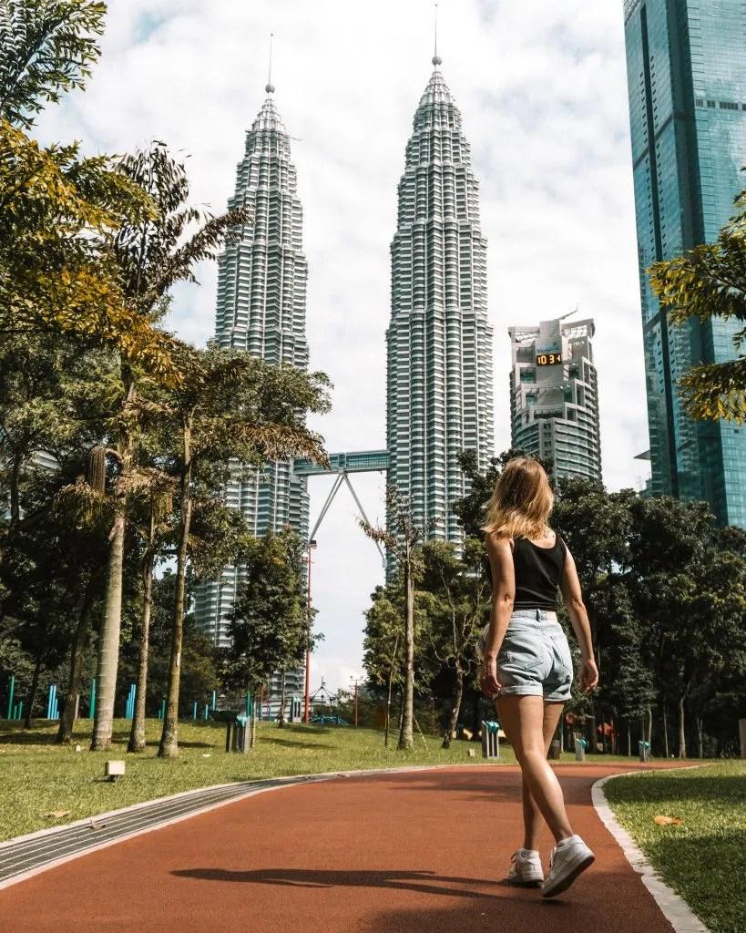 Petronas Towers in Kuala Lumpur in Malaysia