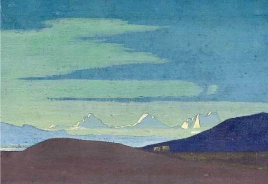 Nicholas Roerich Near the Tibetan frontier
