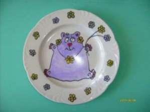Роспись на тарелке