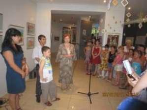 На открытии выставки в Центральном выставочном зале г. Алматы