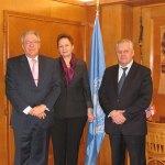 Встреча членов делегации МЦР с директором Управления конференционного менеджмента Отделения ООН в Женеве В.В. Грачевым