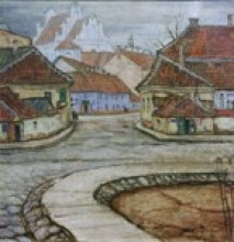 М.В. Добужинский. Вильно. Мостовая улица. 1910. ГМЗ ''Петергоф''