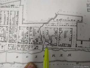 Имение купца Калашникова на плане 1848 года