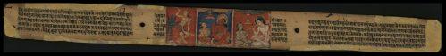Фрагмент рукописи «Гандавьюхасутра» Непал, XI-XII век, Пальмовые листья, натуральные пигменты
