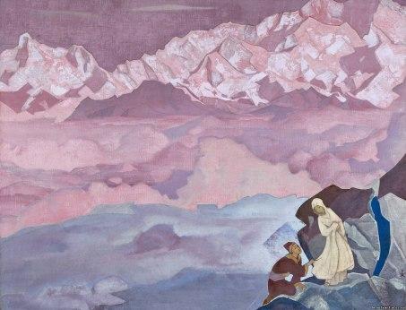 Картина Николая Рериха. Ведущая. 1924 г.
