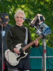 Jane Wiedlin at the Good Morning America sound check, 2011.
