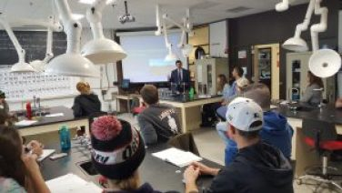 Environmental Protection Division AAGs visit Environmental Toxicology class at Northern Vermont University-Lyndon 2