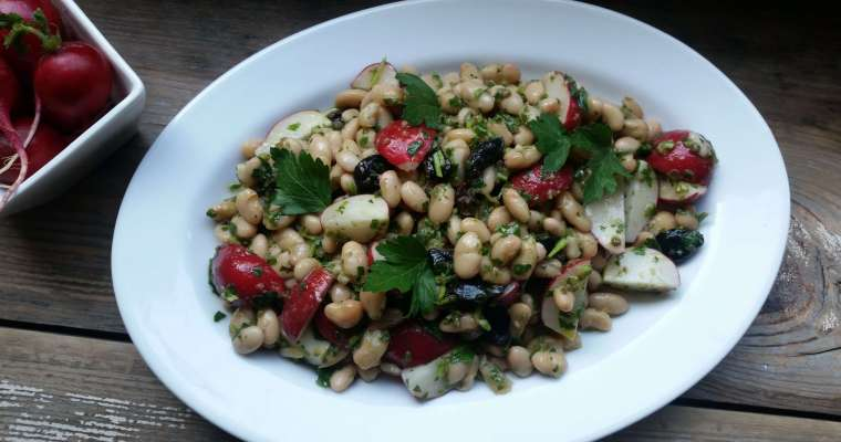 Radish and White Bean Salad