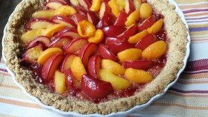 Vegan Dessert Recipe Plum and Apricot Tart in an Almond Crust Recipe