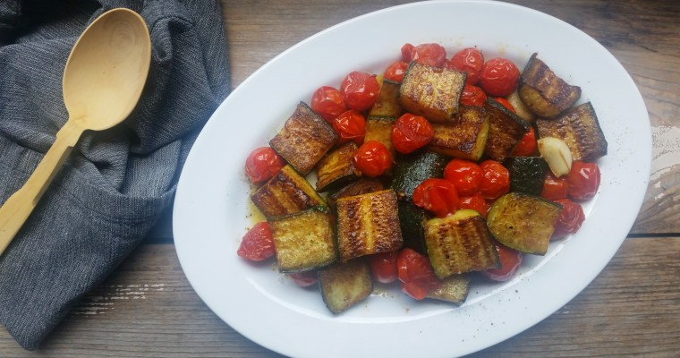 Pan-Roasted Zucchini and Cherry Tomatoes