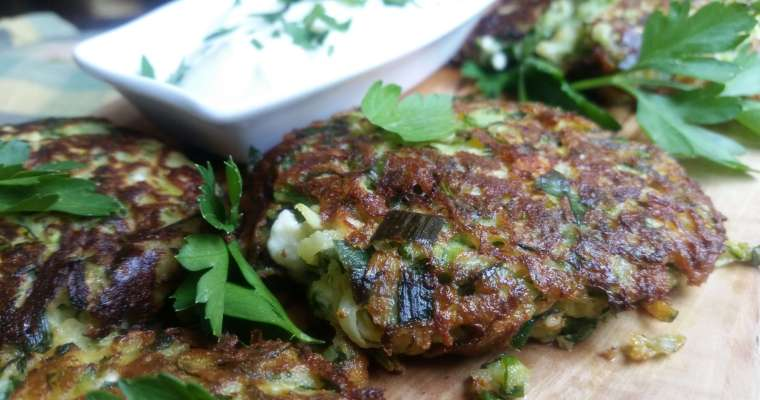 Turkish-Style Zucchini Fritters Recipe