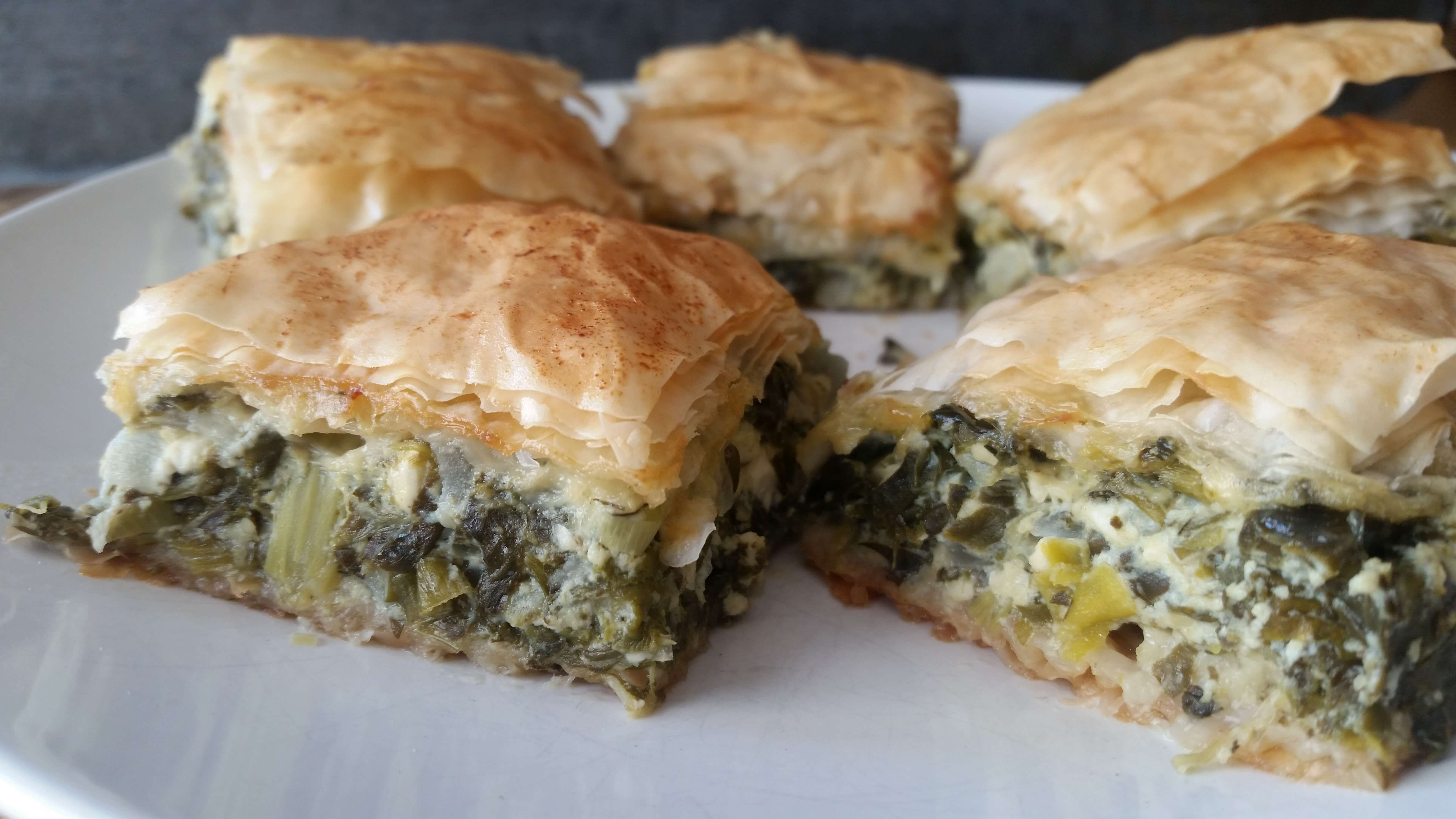 Turkish-Style Spinach and Cheese Savory Pie Recipe