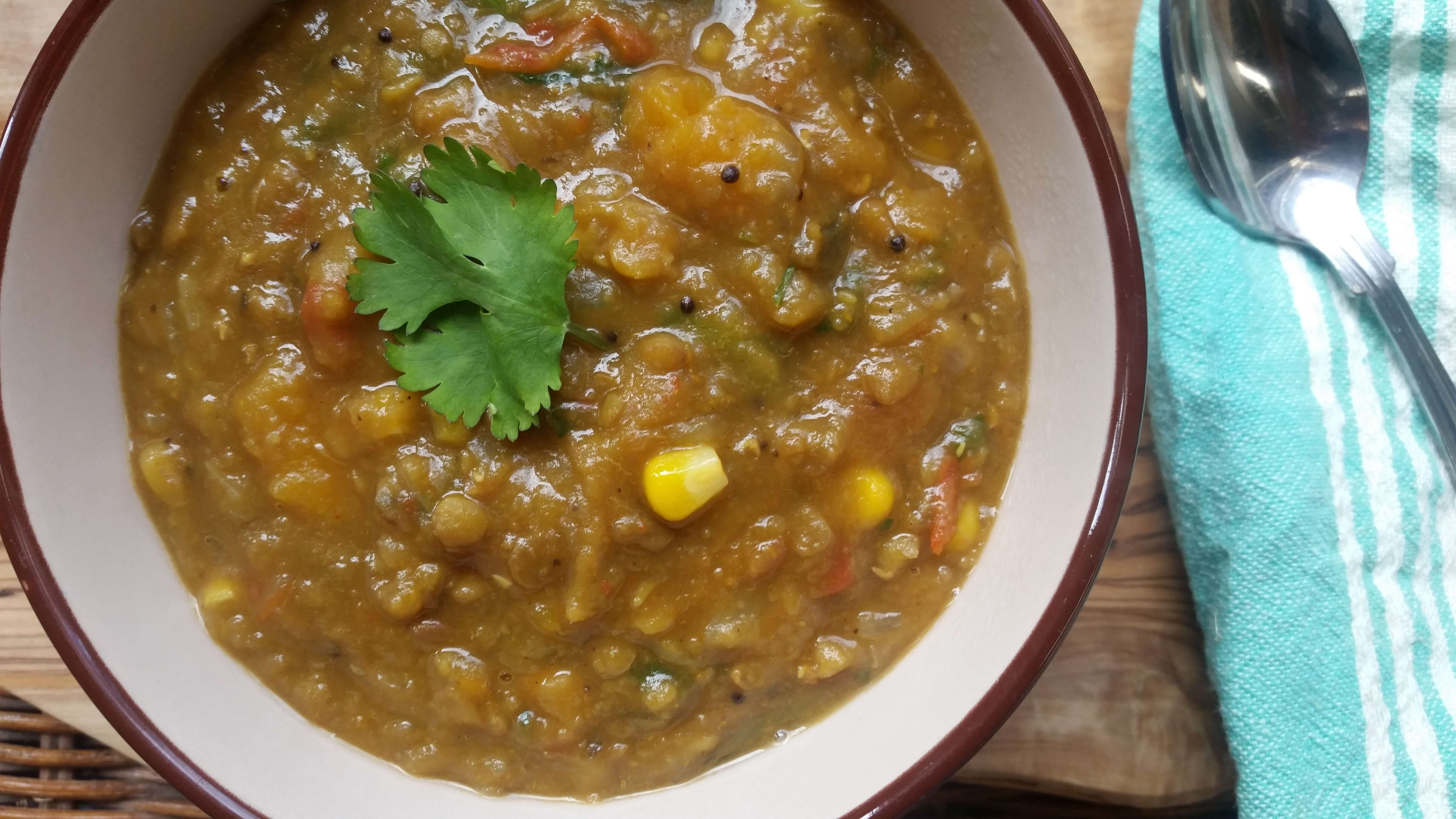 Spicy Lentil Stew Recipe with Butternut Squash
