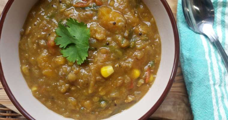 Spicy Lentil Soup Recipe with Butternut Squash