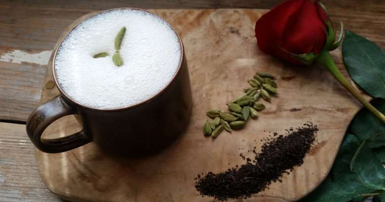 Cardamom Rosewater Tea Latte Recipe