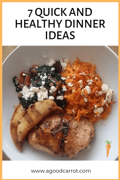 7 quick and healthy dinner ideas, easy healthy dinners, mediterranean recipes for dinner, free printable meal plan
