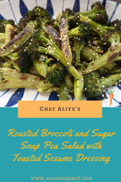 Roasted Broccoli Sugar Snap Pea Recipe Toasted Sesame Dressing, easy vegetable recipe for weekly meal plans, healthy dinner recipes, clean eating recipes, recipes for dinner, vegetarian side dishes, easy broccoli recipes