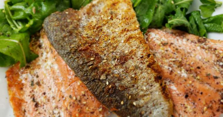 Crispy Skin Salmon Recipe with Za-atar Spice Blend