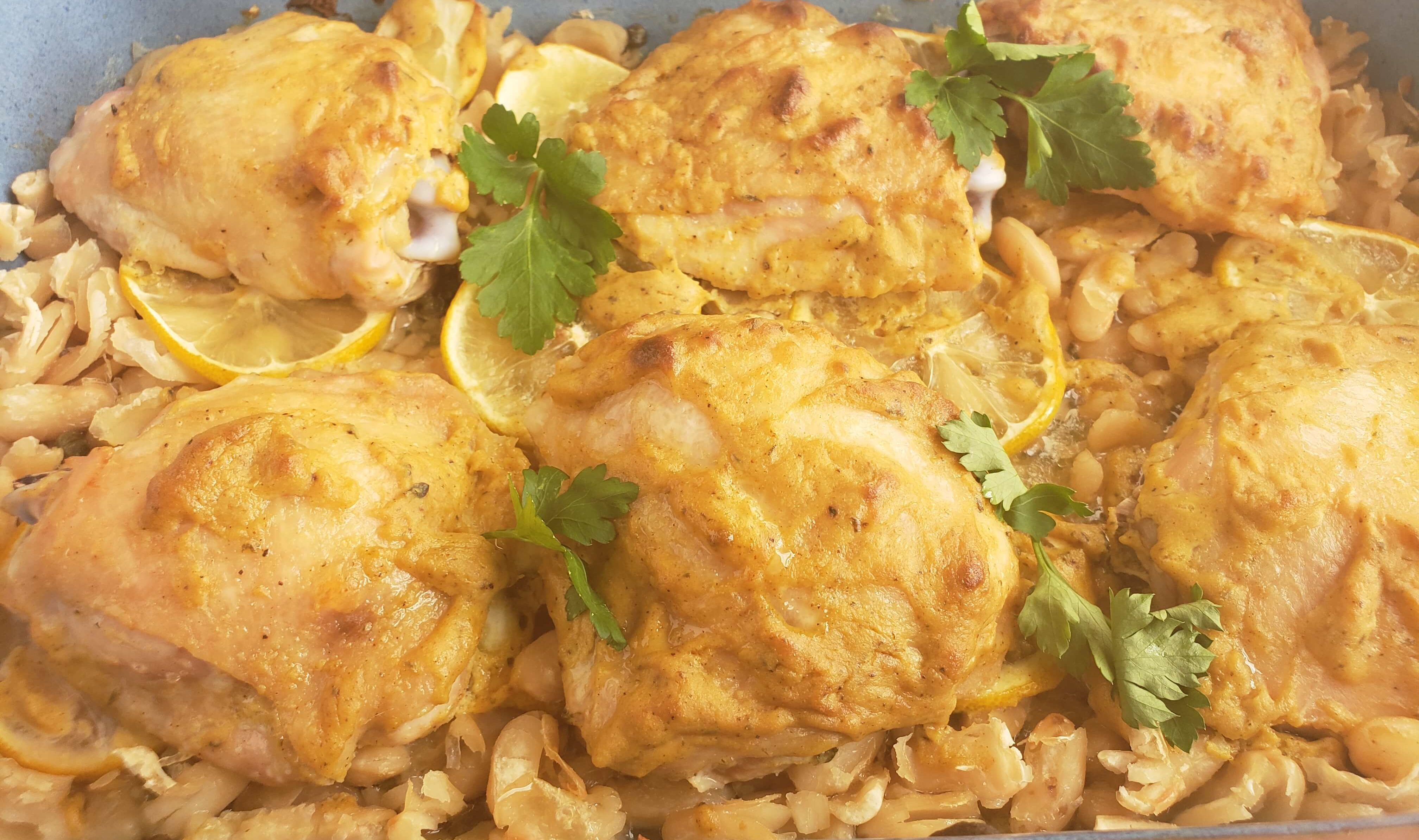 Chicken Thighs Recipe with White Beans and Capers