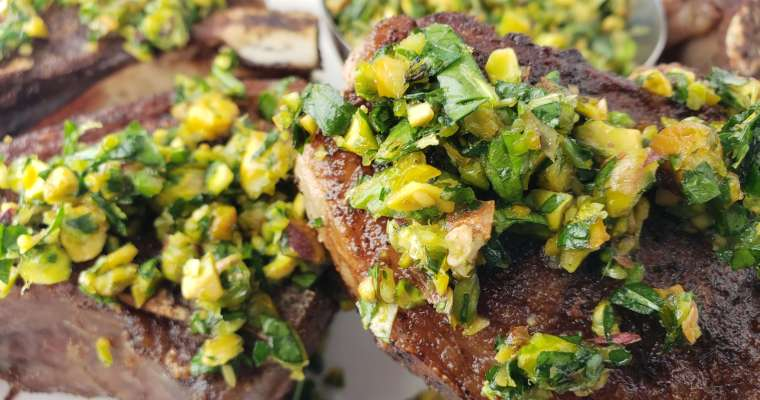 Lamb Chops Recipe with Pistachio Gremolata