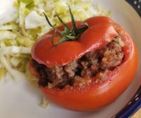 stuffed tomato recipe, (Mediterranean Recipes for Dinner, Vegetable Recipes, Clean Eating Recipes, Healthy Dinner Recipes, Recipes for Dinner, Easy Healthy Dinner