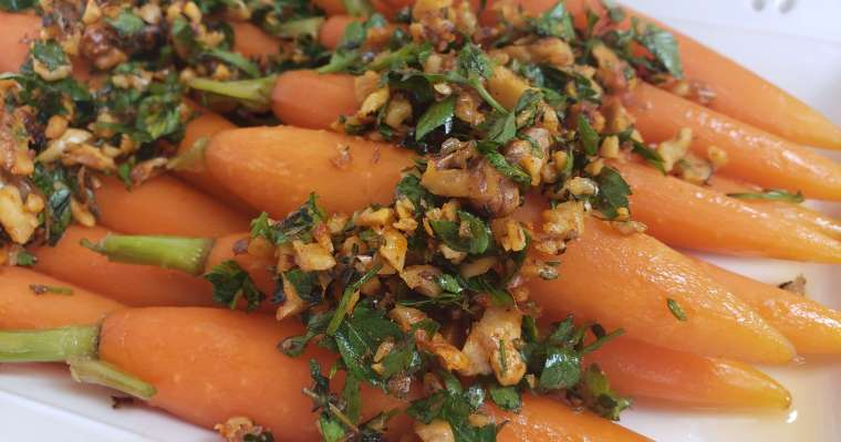 Maple Glazed Carrots with Smoky Walnut Gremolata