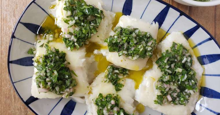 Slow Roasted Halibut Recipe with Herb Salsa